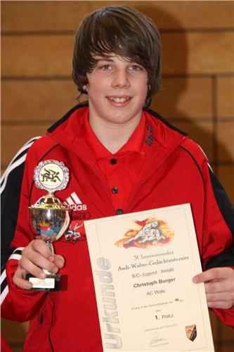 Christoph Burger (-46 kg) 1.Platz